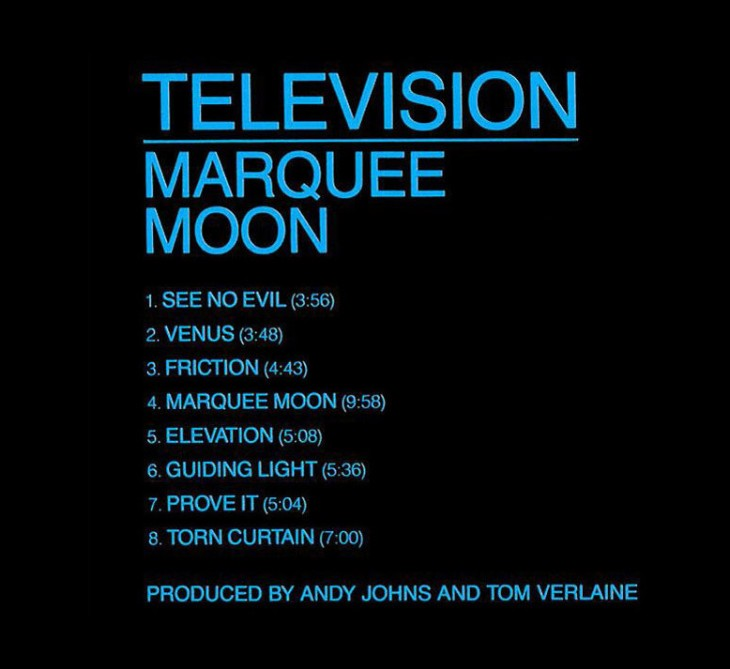 TELEVISION - Masterpiece Debut Album 'MARQUEE MOON' Is 40... -