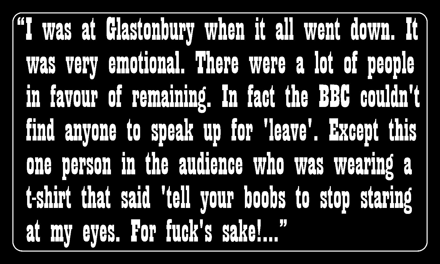 Quote Of The Day Heres Billy Bragg Remembering Brexit Day