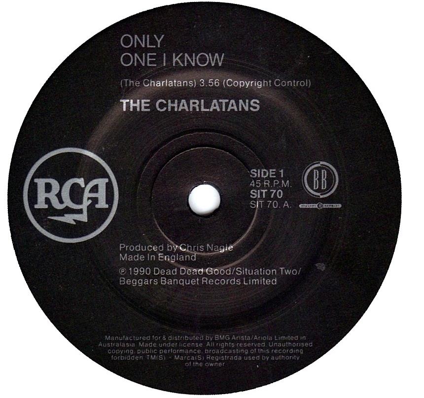 THE CHARLATANS//LTD EDITION CD GOLD DISC//RECORD//WONDERLAND